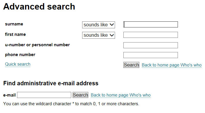 advanced search detail